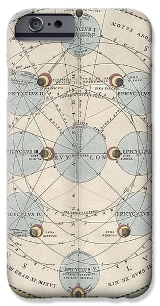 Moon With Epicycles Harmonia iPhone Case by Science Source