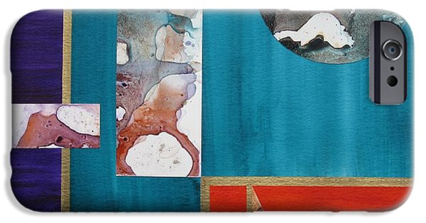 Modern Abstract iPhone Cases - Mooning iPhone Case by Louise Adams