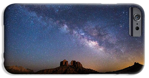 Recently Sold -  - Sedona iPhone Cases - Moonlight and Milky Way iPhone Case by Larry Pollock