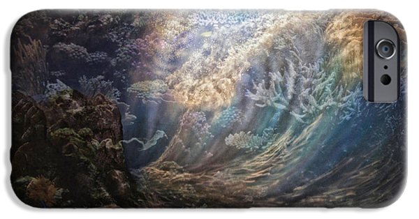 Marine iPhone Cases - Moonlight Below On The Coral Reef PA iPhone Case by Thomas Woolworth