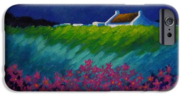 Cushion iPhone Cases - Moonlight County Wicklow iPhone Case by John  Nolan