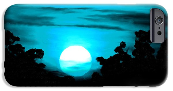 Planetoid Paintings iPhone Cases - Moonlight Sonata  iPhone Case by Bruce Nutting