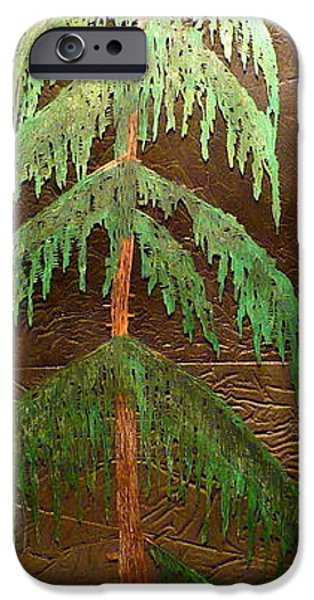 Moon Glass Art iPhone Cases - Moonlit Cedar  iPhone Case by Rick Silas