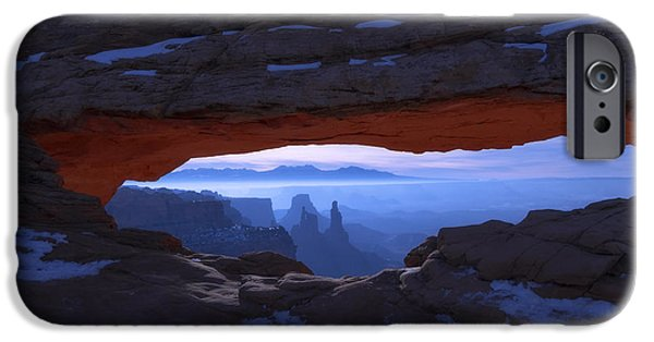 Stars Photographs iPhone Cases - Moonlit Mesa iPhone Case by Chad Dutson