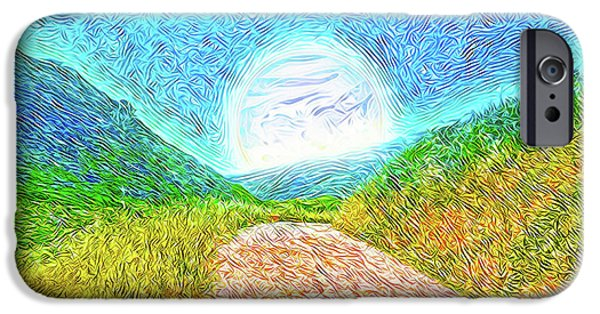 Rural iPhone Cases - Moonlit Path - Marin California Trail iPhone Case by Joel Bruce Wallach