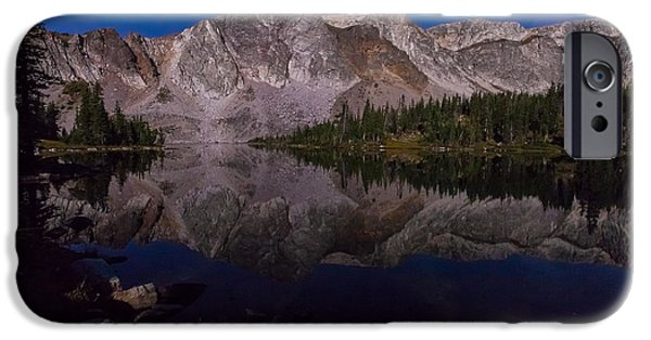 Snowy Night iPhone Cases - Moonlit Reflections  iPhone Case by Steven Reed