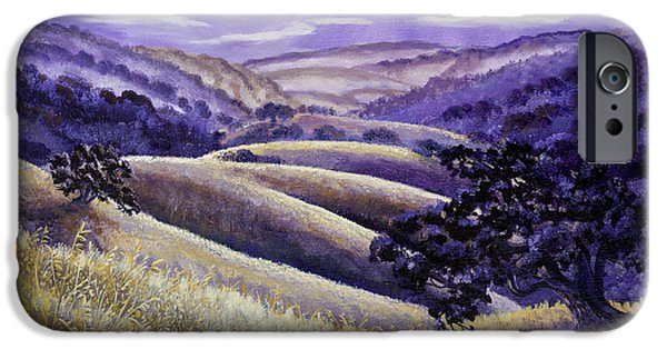 Surreal Landscape iPhone Cases - Moonrise over Monte Bello iPhone Case by Laura Iverson