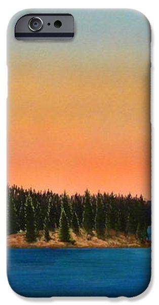 Moonrise Over The Lake iPhone Case by Frank Wilson