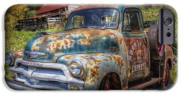 Old Barns iPhone Cases - Moonshine Truck iPhone Case by Debra and Dave Vanderlaan