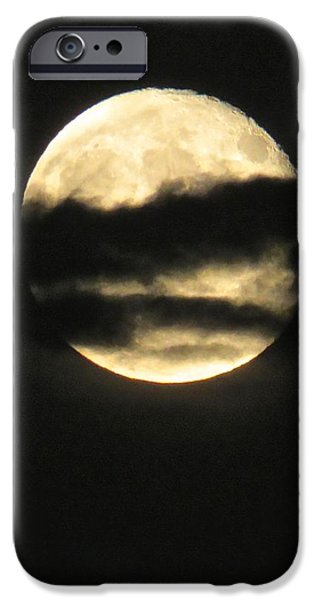 Moonscape iPhone Cases - Moonwalk Through Clouds iPhone Case by Janice Petrella-Walsh