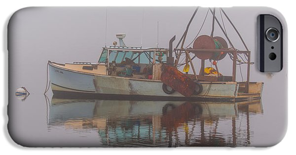 Fog Mist iPhone Cases - Moored In Fog iPhone Case by Sean  Mills