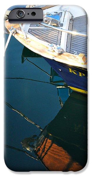 Boat iPhone Cases - Mooring iPhone Case by Damijana Cermelj
