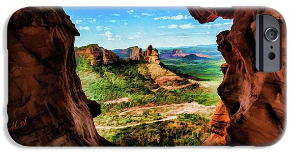 Cathedral Rock iPhone Cases - Moose Ridge 06-055 iPhone Case by Scott McAllister