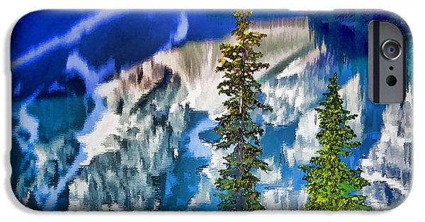 Pines iPhone Cases - Moraine Reflections iPhone Case by Dennis Cox WorldViews