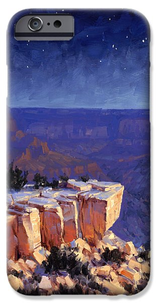 Grand Canyon iPhone Cases - Moran Nocturne iPhone Case by Cody DeLong