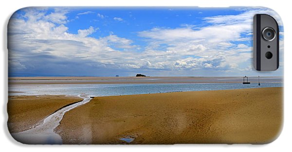 Tidal Photographs iPhone Cases - Morecambe Bay Cumbria iPhone Case by Louise Heusinkveld