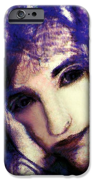 Morgan Le Fay iPhone Cases - Morgaine le Fay iPhone Case by RC deWinter