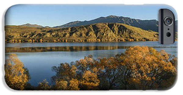Willow Lake iPhone Cases - Morning at Lake Hayes iPhone Case by Robert Green