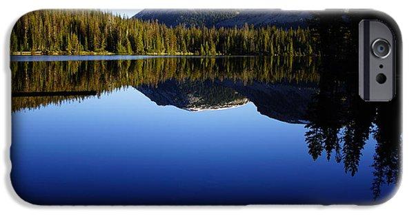 Watson Lake Photographs iPhone Cases - Morning Reflection At Mirror Lake iPhone Case by James Mikkelsen