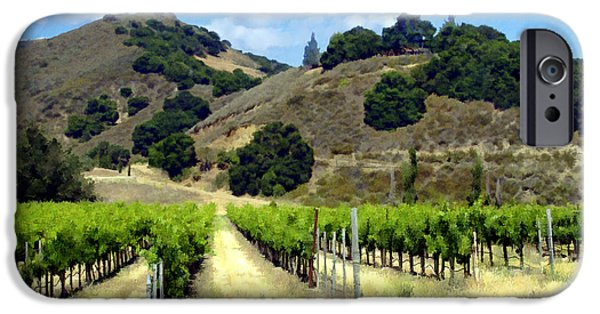 Vineyard Landscape iPhone Cases - Morning at Mosby Vineyards iPhone Case by Kurt Van Wagner