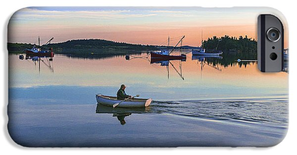 Maine iPhone Cases - Morning Commute iPhone Case by Marty Saccone