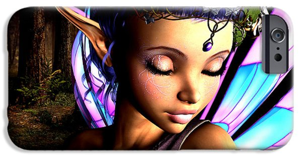 Fay iPhone Cases - Morning Fairy  iPhone Case by Alexander Butler