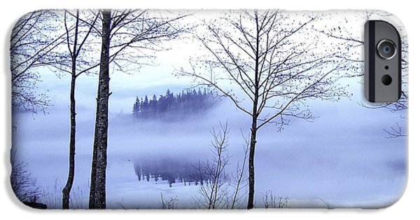Port Hardy iPhone Cases - Morning Fog In The Harbor 3 iPhone Case by Larry Kohlruss