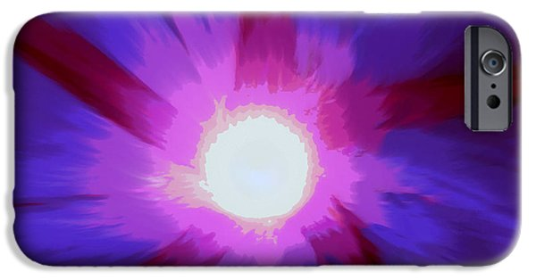 Abstract Digital Art iPhone Cases - Morning Glory High iPhone Case by Lori Pessin Lafargue