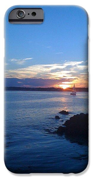 Sailboat Ocean iPhone Cases - Morning Has Broken iPhone Case by Rachel Kerner