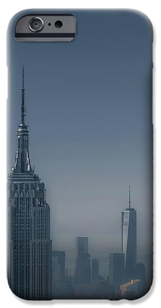 City Scene iPhone Cases - Morning in New York iPhone Case by Chris Fletcher