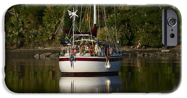 Canoe iPhone Cases - Morning Light iPhone Case by Bob VonDrachek