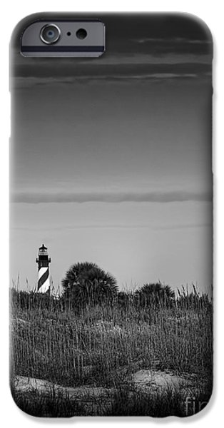 Augustine iPhone Cases - Morning Light-bw iPhone Case by Marvin Spates