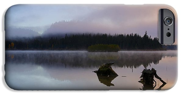 Fog Mist Photographs iPhone Cases - Morning Mist Burning iPhone Case by Mike  Dawson