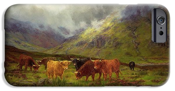 Morning iPhone Cases - Morning Mists iPhone Case by Louis Bosworth Hurt