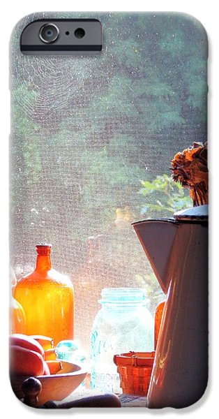 Basket iPhone Cases - Morning Peeks In iPhone Case by Wild Thing