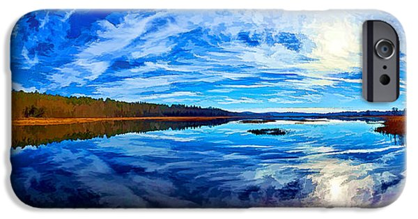 Downeast iPhone Cases - Morning Reflections at the Moosehorn iPhone Case by Bill Caldwell -        ABeautifulSky Photography
