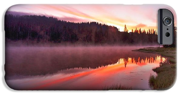 Fog Mist iPhone Cases - Morning Revealed iPhone Case by Steve Luther