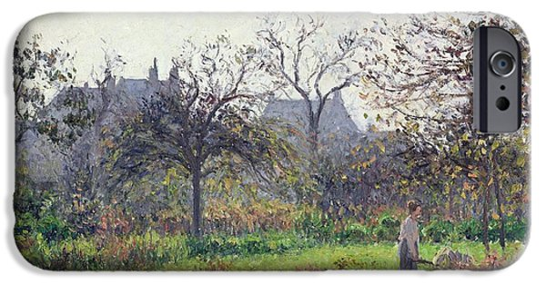 Apple Trees iPhone Cases - Morning Sun iPhone Case by Camille Pissarro