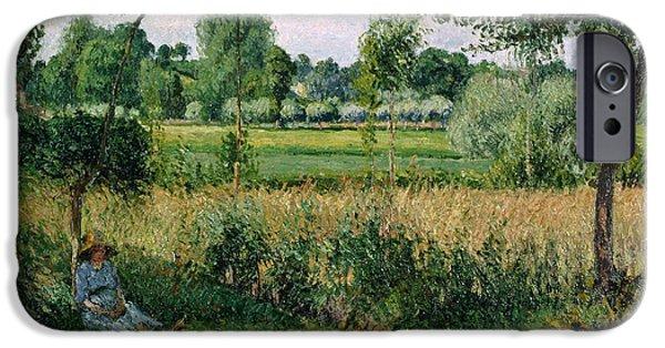 Camille Pissarro iPhone Cases - Morning Sunlight Effect Eragny iPhone Case by Camille Pissarro