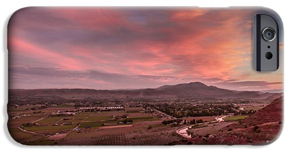 Haybale iPhone Cases - Morning View Over Emmett Valley iPhone Case by Robert Bales