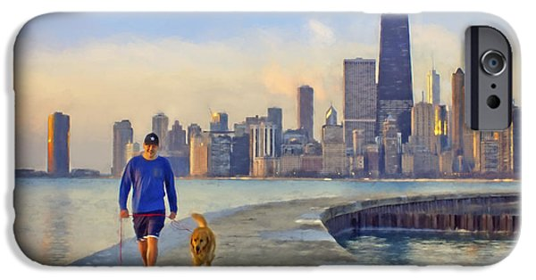 Recently Sold -  - Sears Tower iPhone Cases - Morning Walk #1 - Pier - North Avenue Beach  - Chicago iPhone Case by Nikolyn McDonald