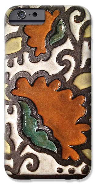 Rustic Ceramics iPhone Cases - Moroccan Flower Tile iPhone Case by Evelyn Taylor Designs