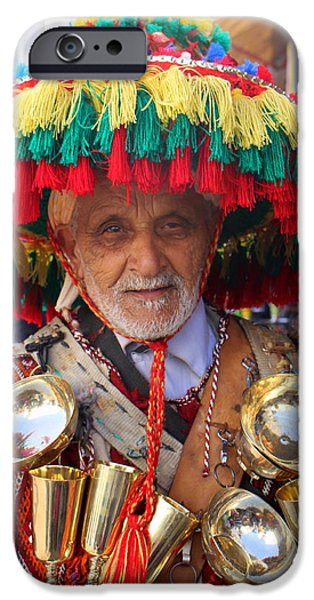 Rabat Photographs iPhone Cases - Moroccan Water Seller iPhone Case by Ramona Johnston