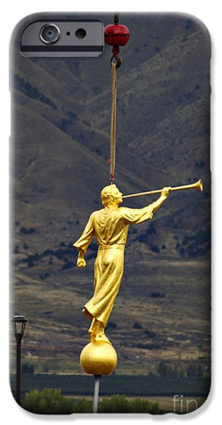 Angel Moroni iPhone Cases - Moroni Statue iPhone Case by Gloria Pasko
