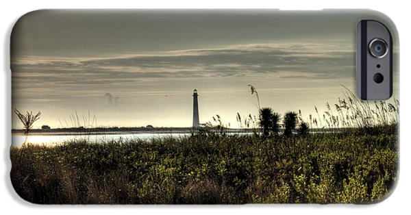 Morning iPhone Cases - Morris Island Lighthouse iPhone Case by Dustin K Ryan
