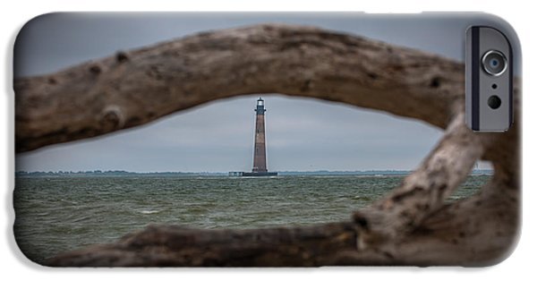 Lighthouse iPhone Cases - Morris Island Light iPhone Case by Dale Powell