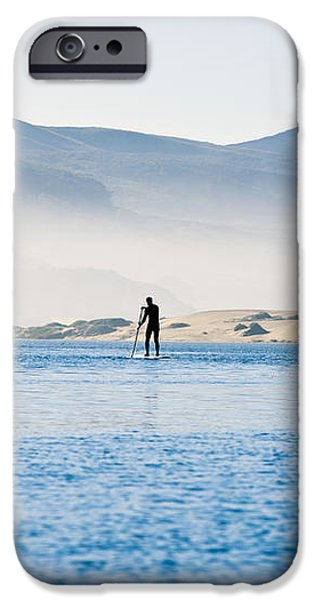 Morro Bay Paddle Boarders iPhone Case by Bill Brennan - Printscapes