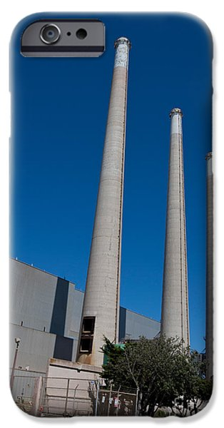 Electrical iPhone Cases - Morro Bay Power Plant iPhone Case by Jason O Watson