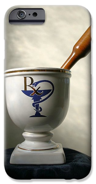 Healthcare And Medicine iPhone Cases - Mortar and Pestle iPhone Case by Kristin Elmquist