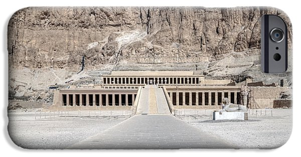Hathor iPhone Cases - Mortuary Temple of Hatshepsut - Egypt iPhone Case by Joana Kruse